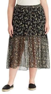 Lauren Ralph Lauren Plus Floral Georgette Skirt