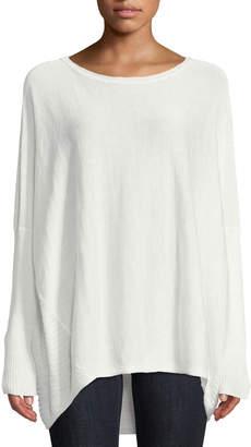 Lafayette 148 New York High-Low Dolman-Sleeve Sweater