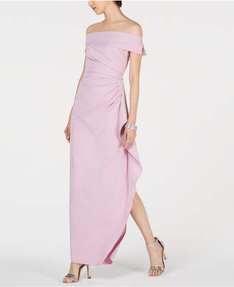 f735fdf0d7 Vince Camuto Ruffled Off-The-Shoulder Gown