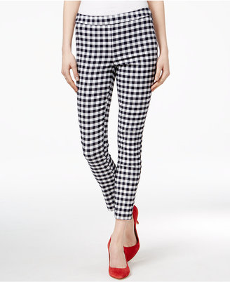 Maison Jules Gingham Pull-On Pants, Only at Macy's $49.50 thestylecure.com