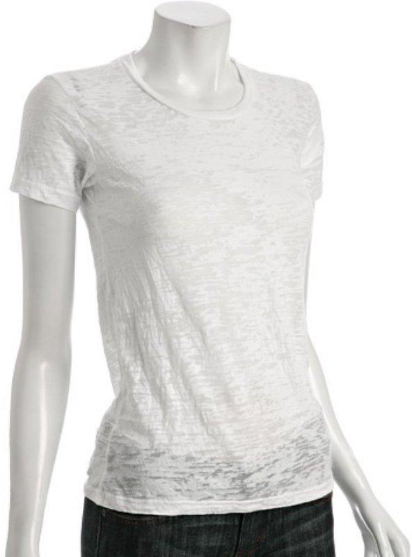 Alternative Apparel white washed burnout jersey crewneck t-shirt