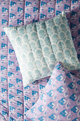 Anthropologie Artisan Quilts by Block-Printed Grecca Euro Sham
