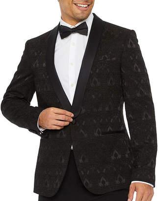Jf J.Ferrar Evening Edition Jacquard Mens Slim Fit Sport Coat