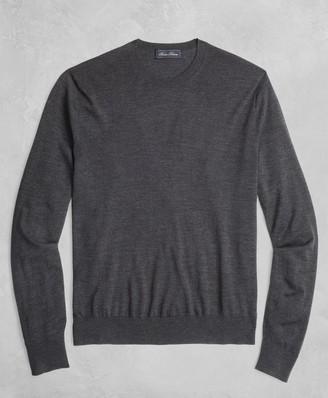 Brooks Brothers Golden Fleece 3-D Knit Fine-Gauge Merino Crewneck Sweater