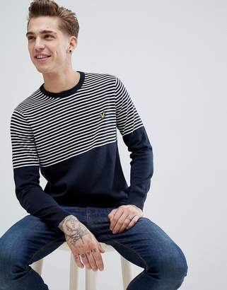 Lyle & Scott half breton sweater