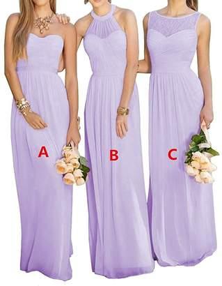 GMAR Women's Chiffon BridesmBid Dresses Sleeveless Long Prom Evening Gowns
