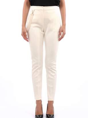 Max Mara White Wool Jersey Trousers