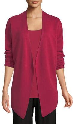 Eileen Fisher Angle-Front Silky Tencel Cardigan