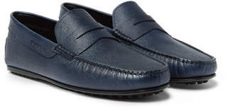 Tod's City Gommino Textured-Leather Penny Loafers