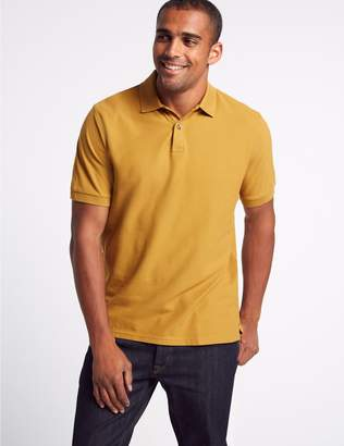 Marks and Spencer Pure Cotton Pique Polo Shirt