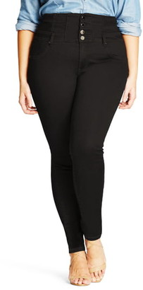City Chic Harley Corset Skinny Jeans