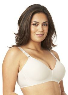 Olga Bra: No Side Effects Wire-Free Full-Figure Contour Bra GM3561A $42 thestylecure.com