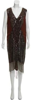Haute Hippie Silk Embellished Dress