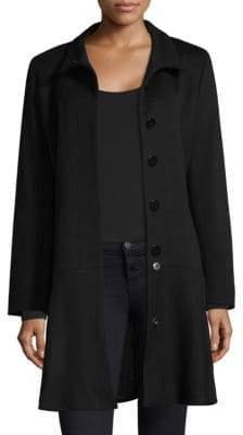 Sofia Cashmere Long Sleeve Funnelneck Coat
