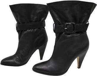 Kurt Geiger Black Leather Ankle boots
