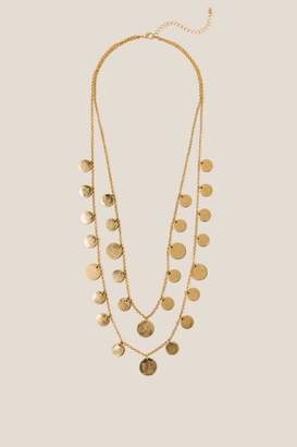 francesca's Jess Layered Coin Necklace - Gold