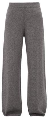 Joseph Wool Blend Wide Leg Trousers - Womens - Dark Grey