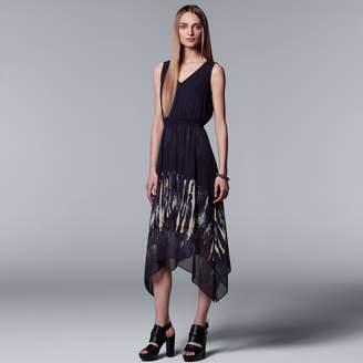 Vera Wang Women's Simply Vera Print Handkerchief Hem Dress