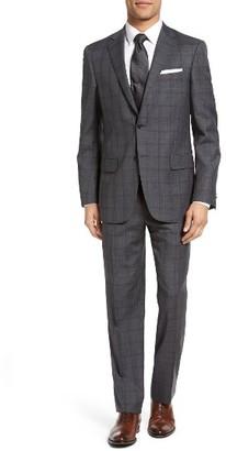 Men's Hart Schaffner Marx Classic Fit Plaid Wool Suit $795 thestylecure.com