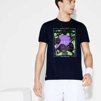 Lacoste Men's SPORT Miami Open Print Tech Jersey Tennis T-shirt