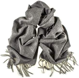 Black Mid Grey Cashmere Scarf