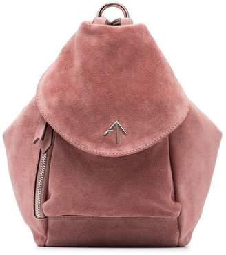 Atelier Manu rose Fernweh mini suede tote bag
