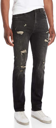 Cult of Individuality Stilt Distressed Skinny Jeans