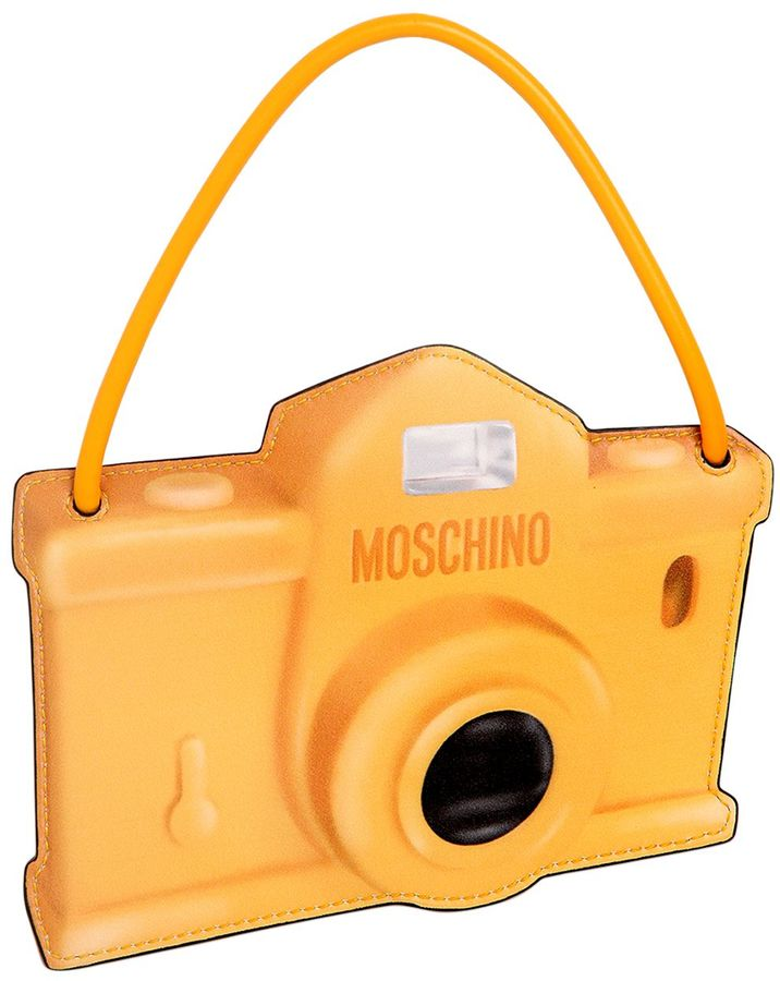 MoschinoCamera Printed Leather Pouch