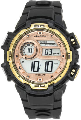 Armitron Men's Digital Chronograph Black Strap Watch 48mm 40-8347BKGD
