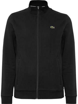 Lacoste Tennis Fleece-Back Cotton-Blend Jersey Zip-Up Tennis Jacket