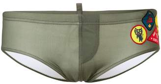 DSQUARED2 patch swim shorts