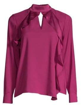 Parker Ciani Cascading Ruffle Blouse