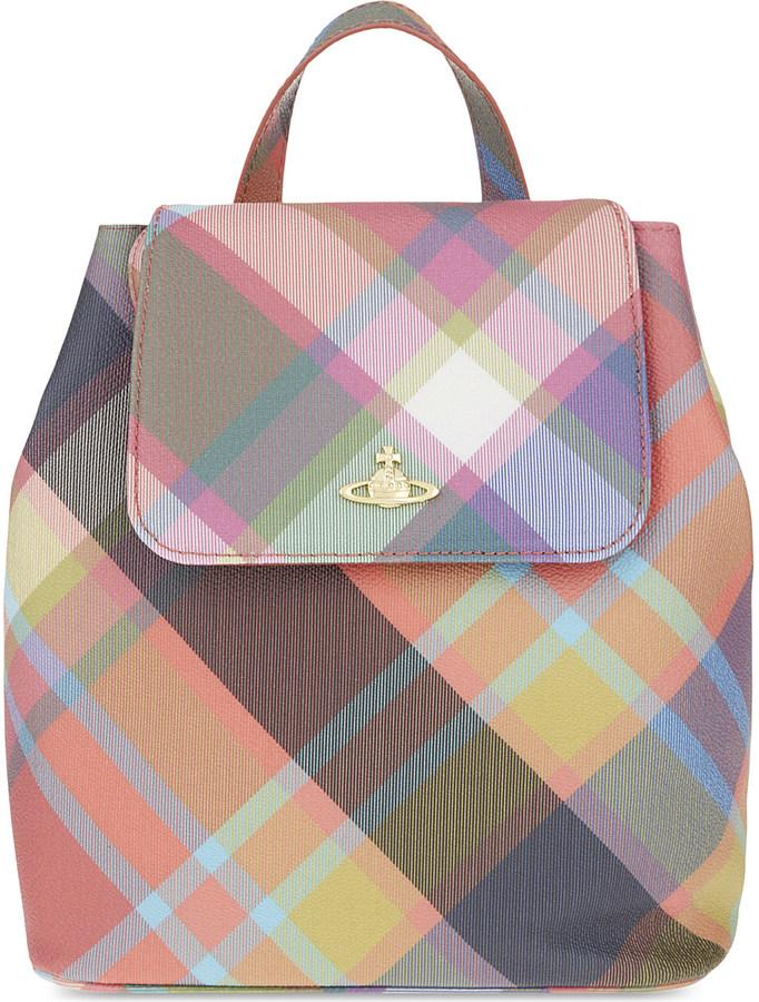 Vivienne WestwoodVivienne Westwood Derby tartan small backpack