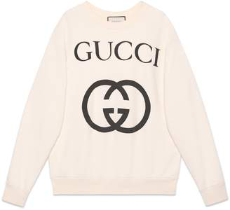 Gucci Oversize sweatshirt with Interlocking G
