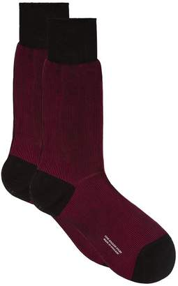 Pantherella Ribbed Cotton Socks