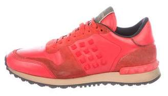 Valentino Leather Rockrunner Sneakers