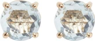 Suzanne Kalan Blue Topaz Yellow Gold Stud Earrings