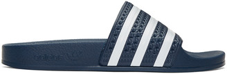 adidas Originals Navy Adilette Slide Sandals $30 thestylecure.com