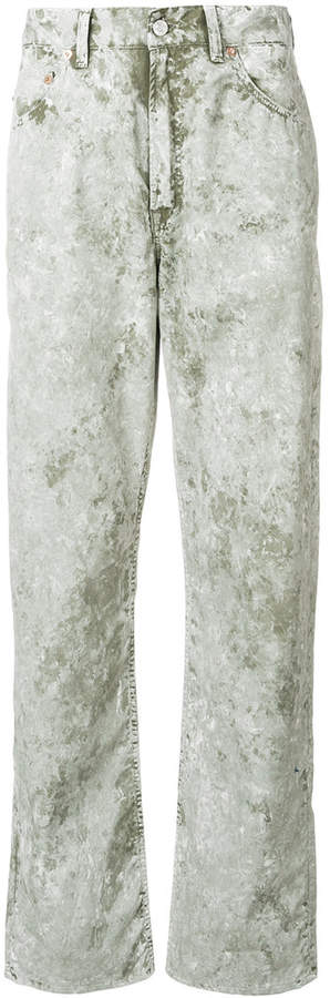 faded regular trousers