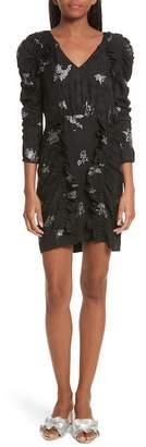 Rebecca Taylor Glitter Jacquard Silk Dress