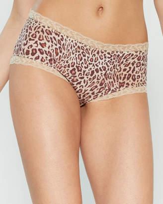 Lise Charmel Epure Leopard Print Lace Trim Shorty Panty