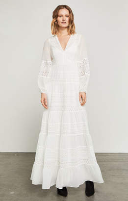 BCBGMAXAZRIA Kalli Embroidered Floral-Lace Gown