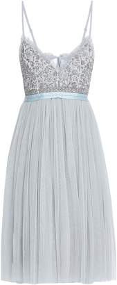Needle & Thread Embellished Georgette And Tulle Dress