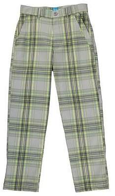 Kids Boys Checked Golf Trousers Junior P...