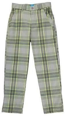 Slazenger Kids Boys Checked Golf Trousers Junior Pants Bottoms Sports Casual
