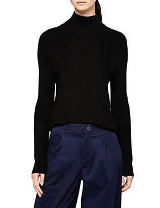 Meraki Women's Chunky Wool-Blend Turtleneck Sweater
