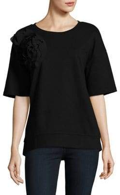 Lord & Taylor Elbow-Length Cotton Top