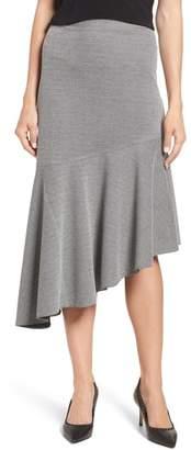 Vince Camuto Houndstooth Asymmetrical Hem Skirt