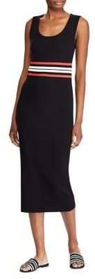 Lauren Ralph Lauren Striped Cotton Blend Midi Dress