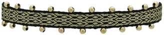 LeJu London Single Wrap Bracelet in Black & Gold